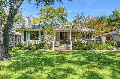 Dallas Single Family Home For Sale: 7523 Colgate Avenue