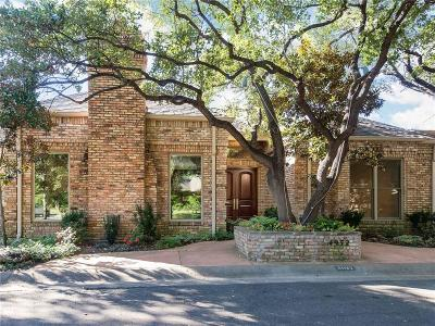 Dallas Townhouse For Sale: 4932 Briarwood Place