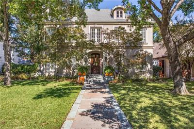 Dallas Single Family Home For Sale: 6529 Aberdeen Avenue