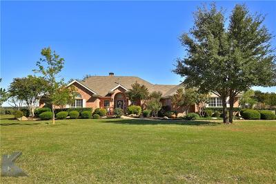 Abilene Single Family Home For Sale: 8333 Horseshoe Circle