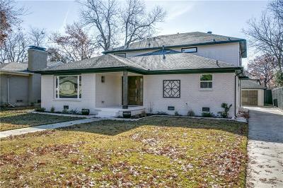 Dallas Single Family Home For Sale: 6158 Marquita Avenue