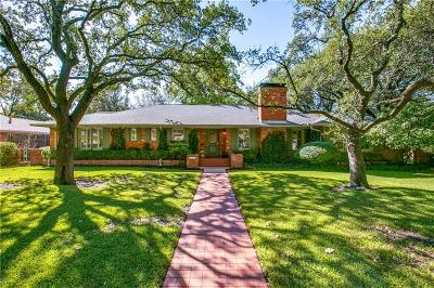 Dallas Single Family Home For Sale: 6006 Meadowcrest Drive