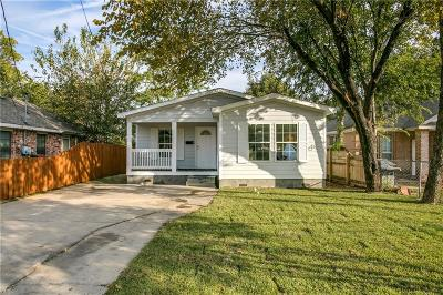 Dallas Single Family Home For Sale: 1731 Dennison Street