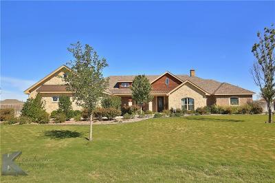 Abilene Single Family Home For Sale: 109 Turkey Creek Lane