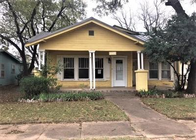 Abilene Single Family Home For Sale: 409 Jeanette Street
