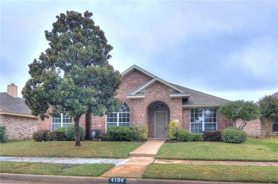 McKinney Single Family Home Active Option Contract: 4104 Honeysuckle Drive