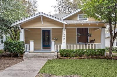 Dallas Single Family Home For Sale: 5822 Worth Street