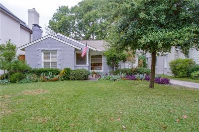 Dallas Single Family Home For Sale: 5615 Stanford Avenue