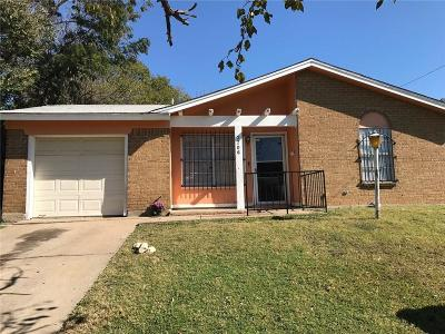 Fort Worth Single Family Home Active Option Contract: 2706 19th Street