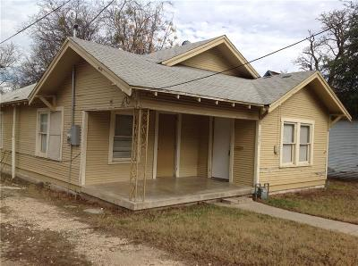 Stephenville TX Single Family Home For Sale: $72,500