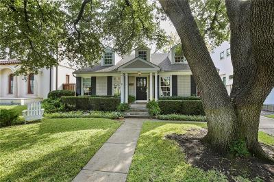 Highland Park, University Park Single Family Home Active Option Contract: 3505 Rankin Street