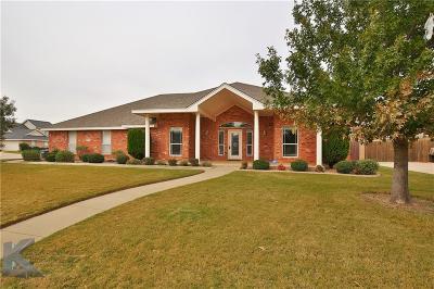 Abilene Single Family Home For Sale: 7034 Springwater Avenue