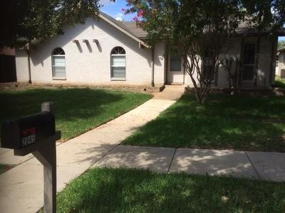 Single Family Home Active Option Contract: 2045 E Peters Colony Road