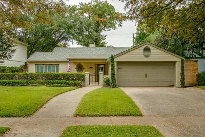 Highland Park TX Single Family Home For Sale: $1,349,900