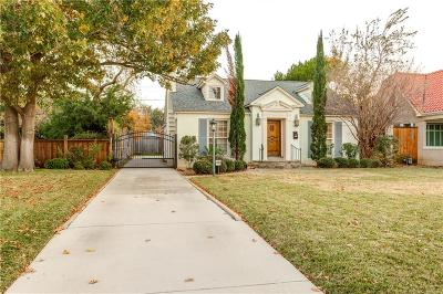 Fort Worth Single Family Home For Sale: 3645 Bellaire Drive S