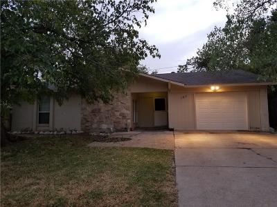 Lewisville Single Family Home Active Option Contract: 182 Price Drive