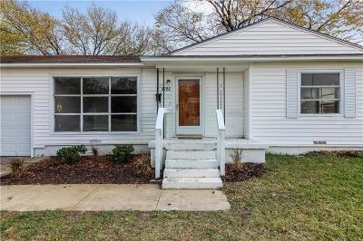 Irving Single Family Home Active Option Contract: 2722 William Brewster Drive