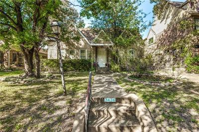 Highland Park, University Park Single Family Home Active Option Contract: 3436 Lovers Lane