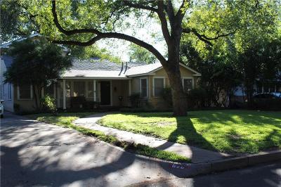 Abilene Single Family Home For Sale: 625 Riverside Boulevard