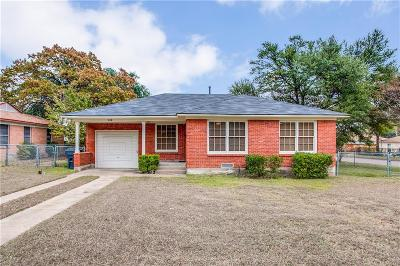 Dallas Single Family Home Active Option Contract: 3118 E Perryton Drive