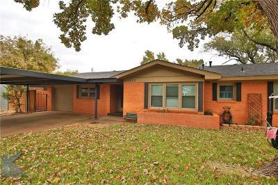 Abilene Single Family Home For Sale: 1225 Albany Street