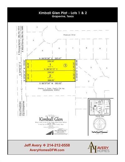 Grapevine Residential Lots & Land For Sale: Lot 2 Kimball Glen