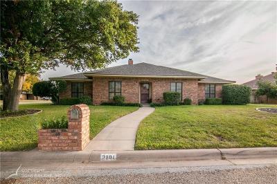 Abilene Single Family Home For Sale: 3901 Jennifer Lane
