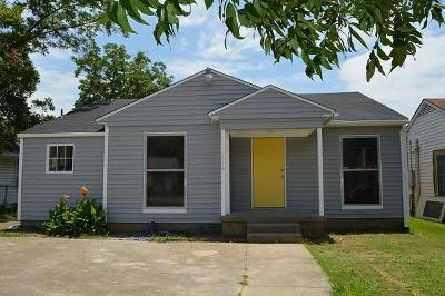 Dallas Single Family Home For Sale: 1614 Wilbur Street
