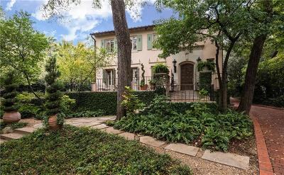 Dallas Single Family Home For Sale: 4107 Turtle Creek Boulevard