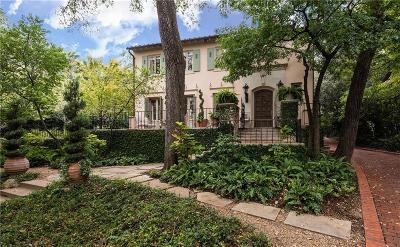 Single Family Home For Sale: 4107 Turtle Creek Boulevard