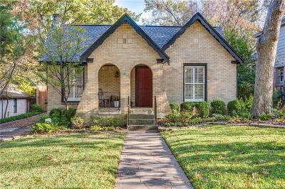Dallas Single Family Home Active Option Contract: 6938 Mistletoe Drive