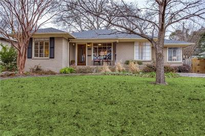 Dallas Single Family Home Active Option Contract: 6439 Vanderbilt Avenue