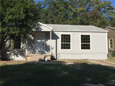 Fort Worth Single Family Home For Sale: 3620 Bright Street