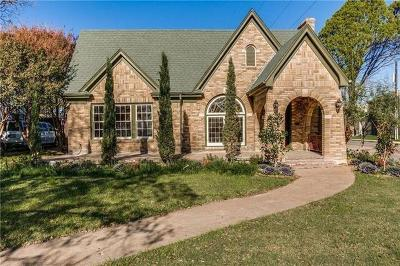 Dallas, Fort Worth Single Family Home For Sale: 2733 South Boulevard