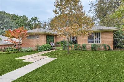 Dallas Single Family Home For Sale: 7222 Wabash Circle