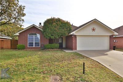 Abilene Single Family Home For Sale: 3841 Purdue Lane