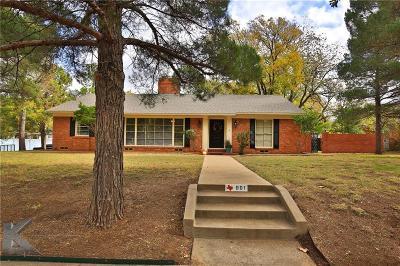 Abilene Single Family Home For Sale: 901 Sayles Boulevard