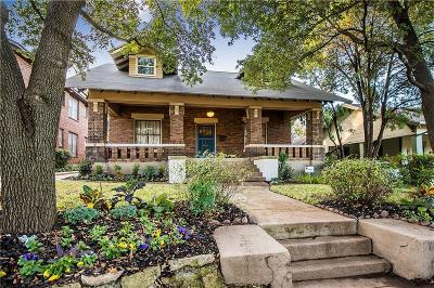 Dallas Single Family Home For Sale: 1005 Haines Avenue