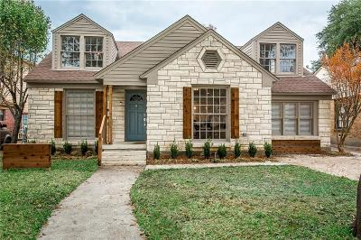 Dallas Single Family Home For Sale: 7519 Caillet Street