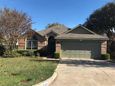 Rockwall Single Family Home For Sale: 508 Mariner Drive