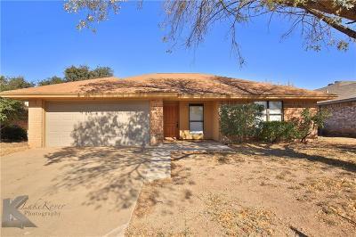 Abilene Single Family Home For Sale: 4018 Chris Drive
