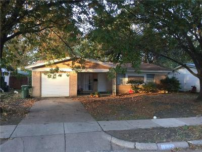 Arlington TX Single Family Home For Sale: $149,900