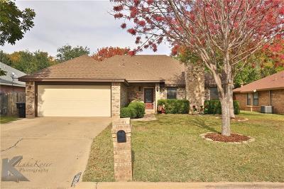 Abilene Single Family Home For Sale: 2718 Stonecrest Drive