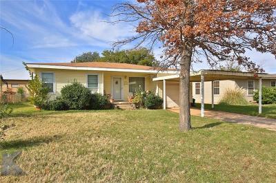Abilene Single Family Home For Sale: 242 Westridge Drive