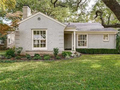 Dallas Single Family Home For Sale: 8610 Chadbourne Road