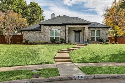 Coppell Single Family Home Active Option Contract: 637 Raven Lane