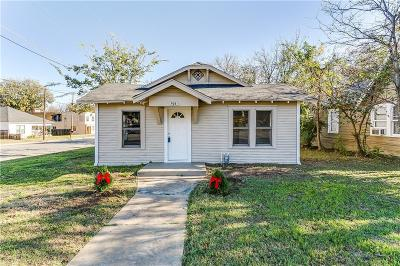 Cleburne Single Family Home Active Option Contract: 708 Granbury Street