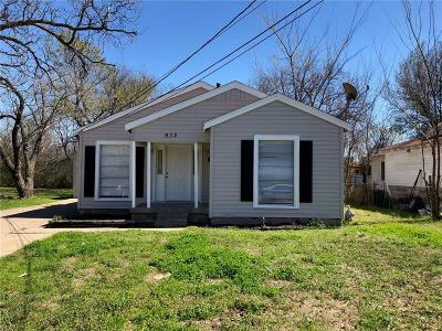 Dallas, Fort Worth Single Family Home For Sale: 932 Holcomb Road