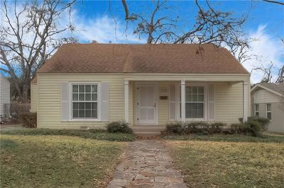 Fort Worth Single Family Home For Sale: 3620 Winston Road