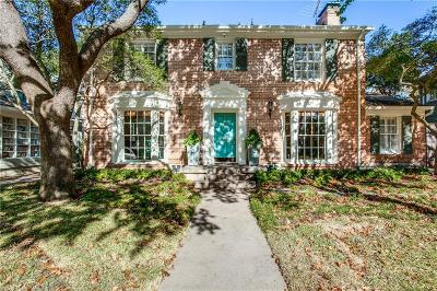 Highland Park, University Park Single Family Home For Sale: 4604 Fairfax Avenue